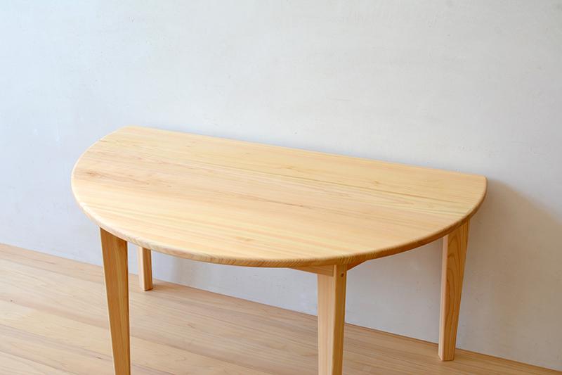 ヒノキクラフト 半月テーブル2
