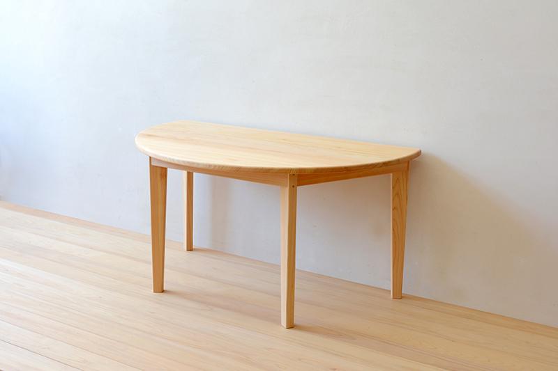 ヒノキクラフト 半月テーブル5