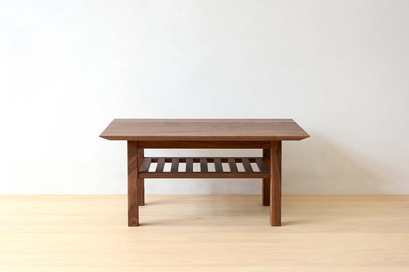 ヒノキクラフト ウォールナットのコーヒーテーブル1