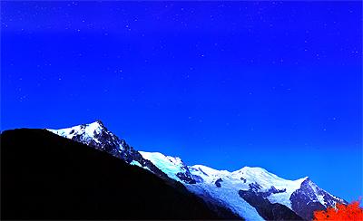 シャモニーの夜空