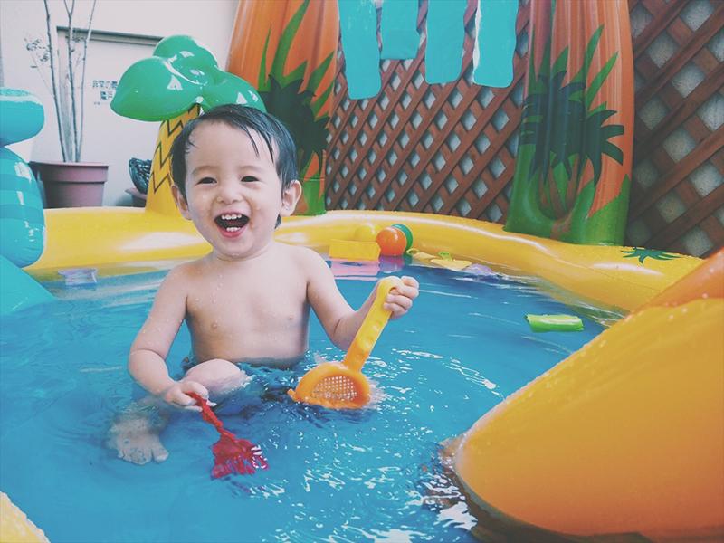 赤ちゃん,1歳,夏,夏休み