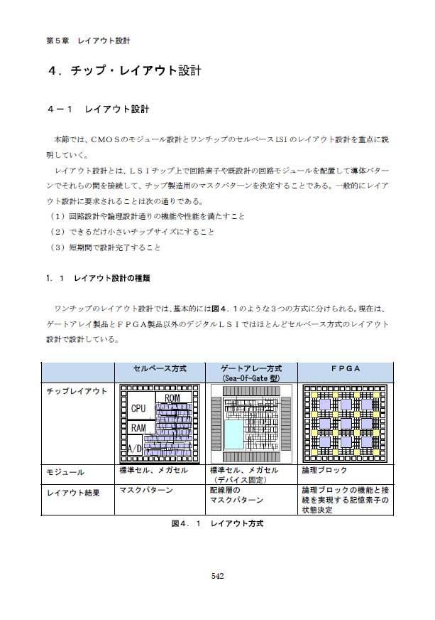 4.チップ・レイアウト設計