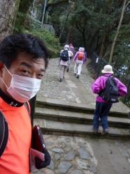 七高山巡り、諏訪神社上の登り始め☆16-1-6