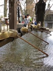 高尾山、手水舎☆16-4-9