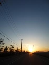 神戸空港での夕日☆16-3-15
