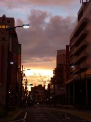 朝焼け、福山駅前☆16-9-4
