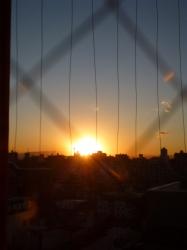 富士山方向の夕日☆17-2-2