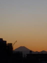 富士山、島忠屋上から☆17-2-2