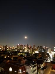 月と木星と新宿ビル群☆17-2-15