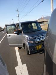 筑波山帰り、追突事故☆17-3-10