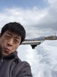 山形ロケ、撮影の合間に☆17-3-5