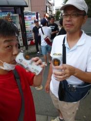 味スタ、入場前のビール☆17-8-13