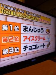 100歳以上の人がよく食べるおやつランキング☆17-8-8