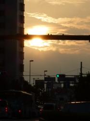 数日ぶりの太陽、車内から☆17-8-18