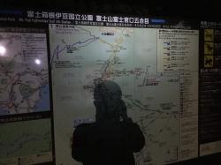 富士宮口五合目、案内図前☆17-9-10
