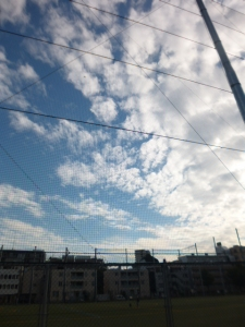 本町公園、秋の雲と青空☆17-10-3