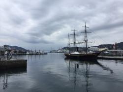 長崎港、帆船☆18-1-7