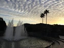平和の泉、夕景☆18-1-3