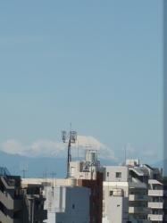 富士山、最上階から☆18-4-26
