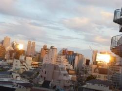 夕日の反射、2方向から☆18-4-27