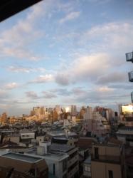 夕日の反射日☆18-4-27