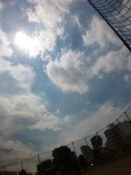 本町公園、太陽と白い雲☆18-5-24
