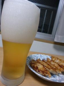 ビールと餃子☆18-6-11