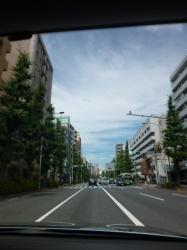 白雲と青空、青梅街道☆18-6-13