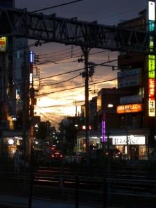 荻窪の夕景☆18-7-4