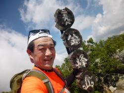 金峰山、串団子型山頂標識☆18-7-20