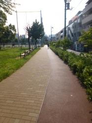本町公園、朝のランニングコース☆18-7-22
