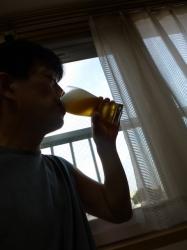 明るいうちからビール☆18-7-24