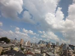 台風一過、新宿方面☆18-7-29