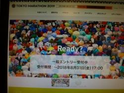 東京マラソン、エントリー受付中☆18-8-6
