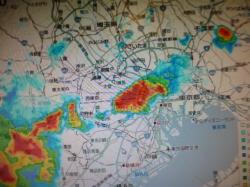 ゲリラ豪雨、雨雲レーダー☆18-8-13