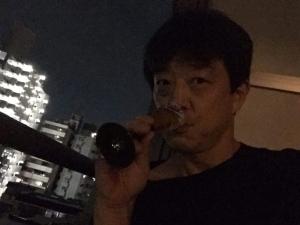 川合さん邸、バルコニーで一杯☆18-8-18