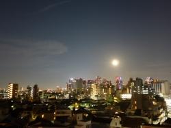 満月、新宿夜景☆18-8-26