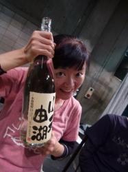 由湖さんと一升瓶☆18-11-1