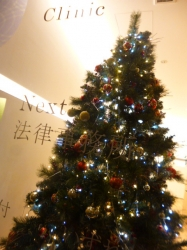 クリスマスツリー、セブン隣りのショーウィンドウ☆18-11-3
