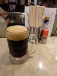 ハーモニカ横丁てっちゃん、黒ビール☆18-12-5