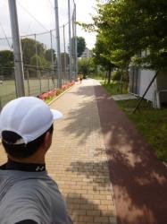 梅雨の晴れ間のランニング、本町公園☆19-6-8