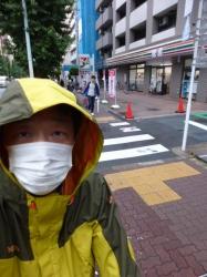 登山用レインウエア、雨上がり☆19-6-9