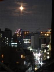 満月、ネット越し☆19-7-17
