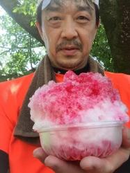 かき氷、高尾山頂上☆19-8-8