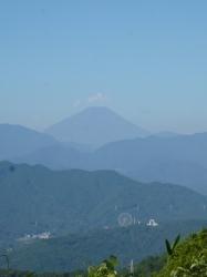 高尾山、もみじ台から富士山☆19-8-8