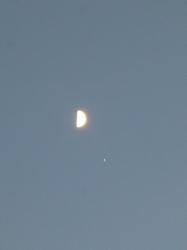 半月と木星☆19-9-6