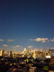薄暮の空、新宿方面☆19-9-6