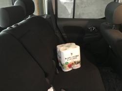 車内のキッチンペーパー☆20-5-27