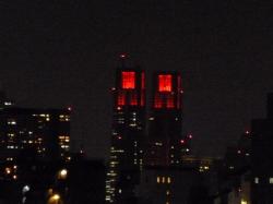 東京アラート、都庁ライトアップ赤☆20-6-2