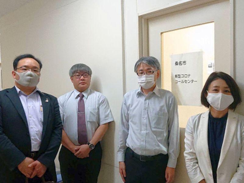 最終日の相談メンバーと、有澤支部長、田島副支部長